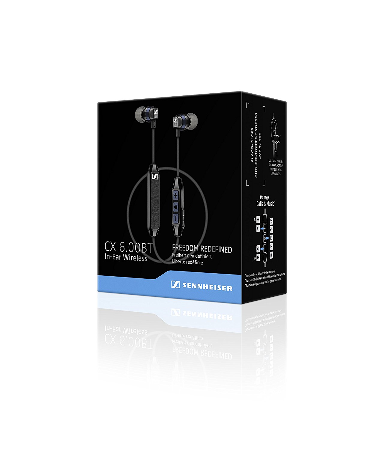 Sennheiser CX 6.00BT auriculares in-ear inalambricos